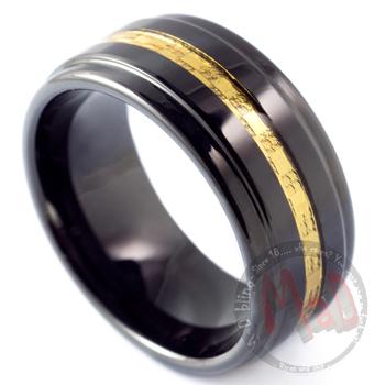 Hummer Black Tungsten Ring