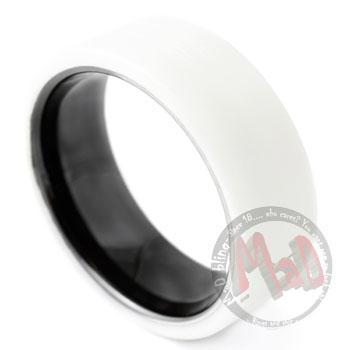 Mud Guard Ceramic Tungsten Ring White