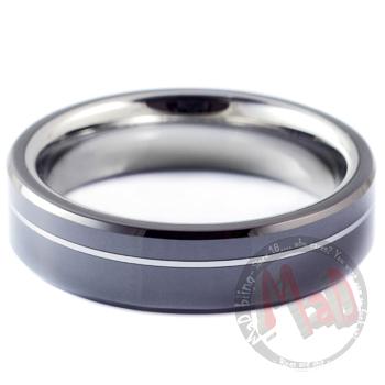Tungsten Black Oxford Ring