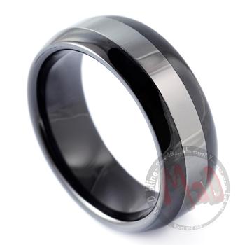 Smoking Gun Black Tungsten Ring Ceramic